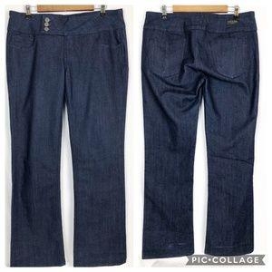Vigoss Classic Size 13 Wide Leg Jeans Dark Wash